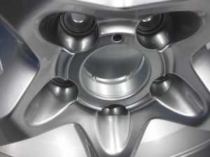 close up of finished wheel